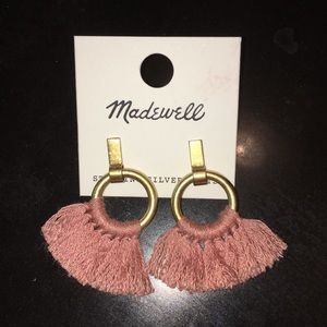 Madewell Fringe Pink Earrings